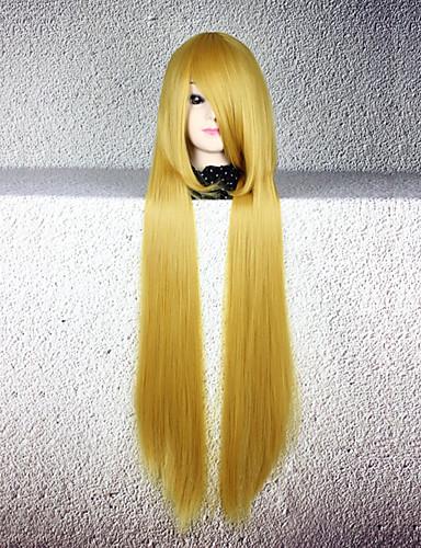 voordelige Cosplay Pruiken-Cosplay Cosplay Cosplaypruiken Heren Dames 32 inch(es) Hittebestendige vezel Gouden Anime