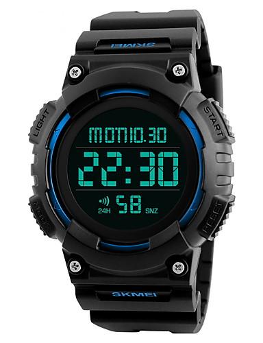 Herrn Sportuhr / Armbanduhr / Digitaluhr Chinesisch Alarm / Kalender / Wasserdicht Caucho Band Schwarz / LCD / Duale Zeitzonen / Stopuhr / Zwei jahr / Maxell626 + 2025