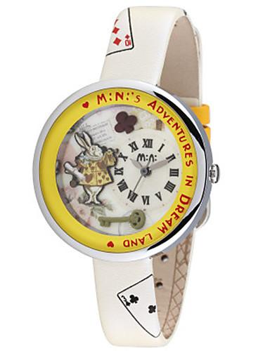 Dámské Módní hodinky Křemenný Kůže Kapela Černá Bílá