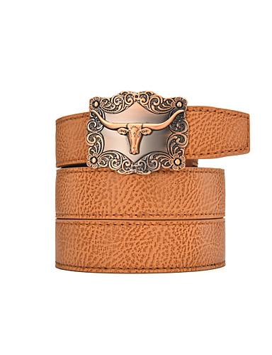 Homens Vintage Casual Liga, Cinto para a Cintura - Estampado Animal Sólido