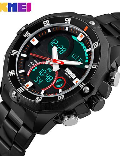 Pánské Digitální Náramkové hodinky Inteligentní hodinky čínština Kalendář Chronograf Velký ciferník Svítící Hodinky s dvojitým časem Nerez