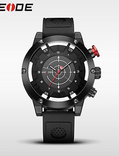 WEIDE Homens Quartzo Relógio Esportivo Japanês Impermeável Silicone Banda Casual Relógio Elegante Fashion Legal Preta