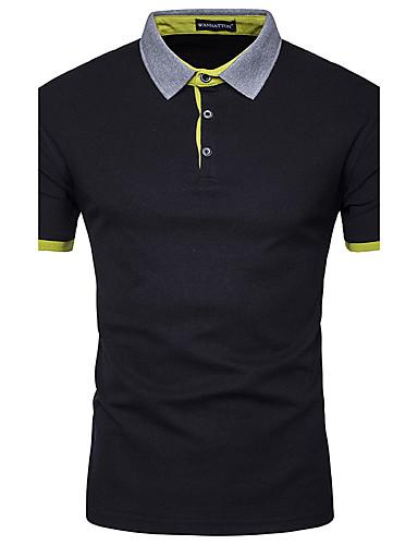 Herren Einfarbig Einfach Aktiv Büro/Geschäftlich Sportlich Normal Polo,Hemdkragen Sommer Herbst Kurzarm Baumwolle Modal Undurchsichtig
