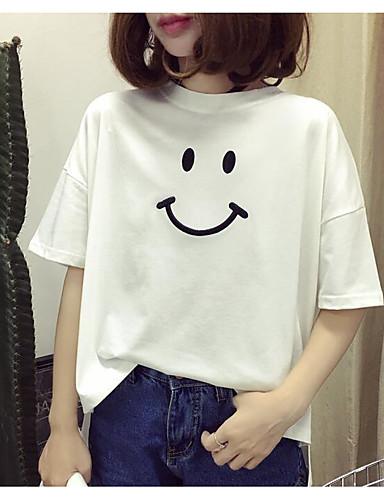 Damen Buchstabe - Niedlich Baumwolle T-shirt