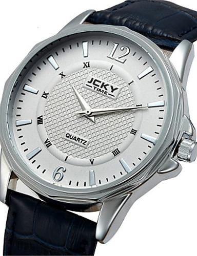 Pánské Módní hodinky Křemenný Kalendář Voděodolné Kůže Kapela Černá