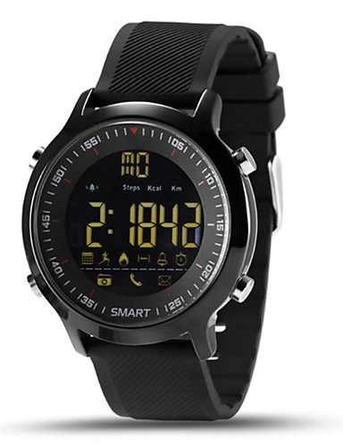 Men's Smartwatch Digital 30 m Water Resistant / Water Proof Heart Rate Monitor Calendar / date / day Silicone Band Digital Charm Multi-Colored - Silver Orange Green Two Years Battery Life