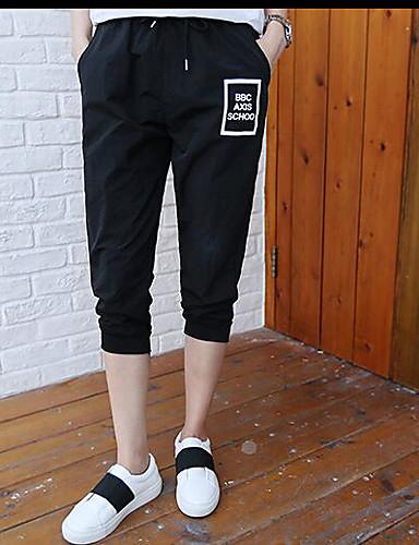 Damen Einfach Mittlere Hüfthöhe Mikro-elastisch Chinos Schlank Hose Solide