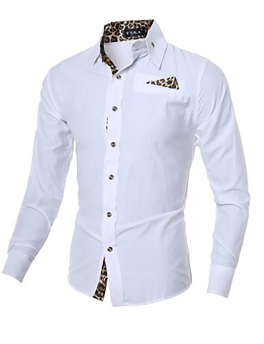 Herrn Schachbrett - Chinoiserie Baumwolle Hemd, Klassischer Kragen