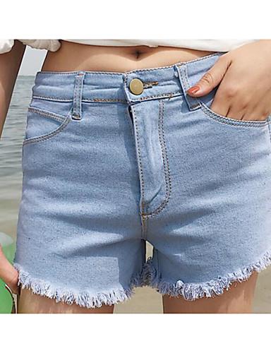 Dámské Jednoduchý Není elastické Kraťasy Kalhoty Štíhlý Mid Rise
