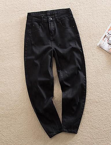 Dámské Jednoduchý Mikro elastické Kalhoty chinos Kalhoty Volné Široké nohavice Mid Rise