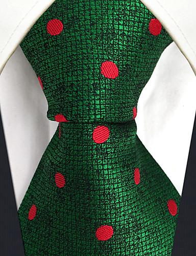 trabalho bonito do partido do vintage dos homens gravata de rayon ocasional - jacquard do bloco da cor das bolinhas, básico