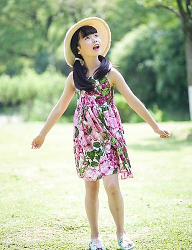 Girl's Floral Dress Sleeveless