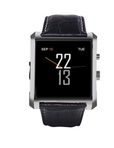 Men's Women's Smart Watch Digital Leather Band Black Silver Brown