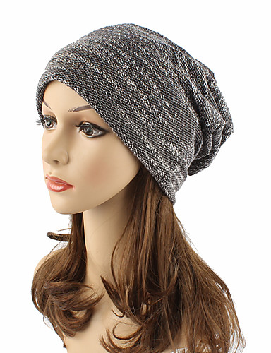 Unisex Headwear Cute Casual Chic & Modern Casual / Daily Knitwear Cotton Beanie / Slouchy Floppy Hat - Solid Colored, Pure Color