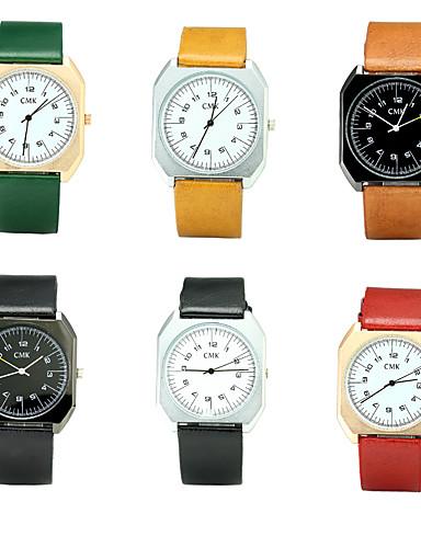 Men's Quartz Wrist Watch Chinese / PU Band Luxury Vintage Casual Elegant Fashion Black Brown