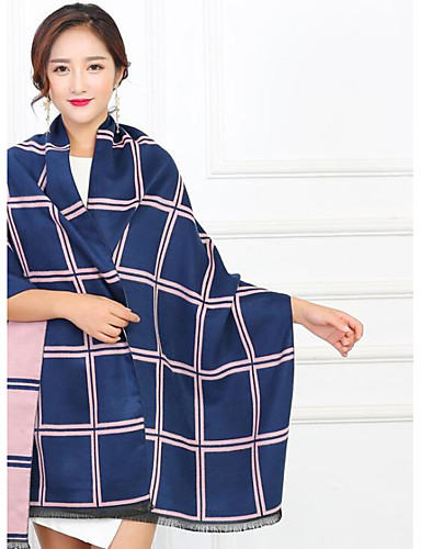 Women's Imitation Cashmere Rectangle Striped Winter Fall/Autumn