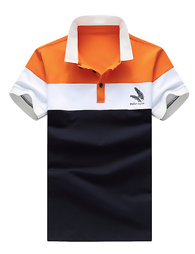 Men's Daily Plus Size Casual Summer Polo