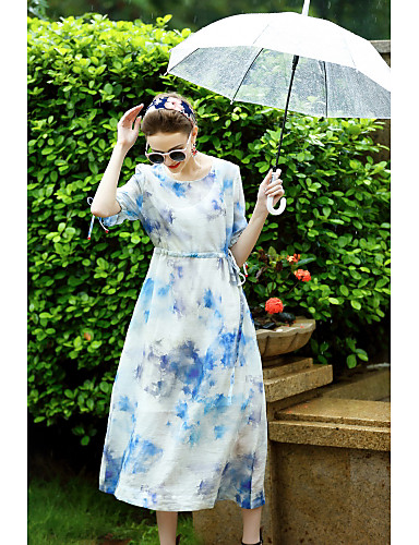 Women's Holiday Going out Daily Work Vintage Street chic A Line Loose Dress