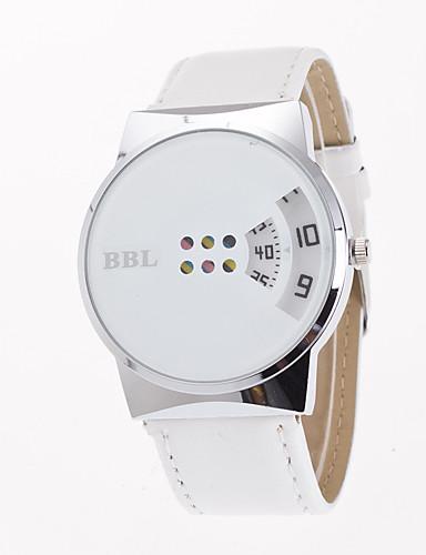 Women's Unique Creative Watch Fashion Watch Quartz Leather Band Creative Casual Black White