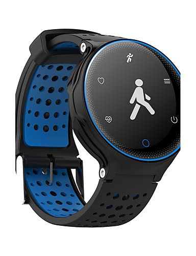 Men's / Women's Sport Watch / Military Watch / Smartwatch Chinese Heart Rate Monitor / Touch Screen / Calendar / date / day PU Band Charm / Luxury / Bangle Black / Blue / Red / Pedometers