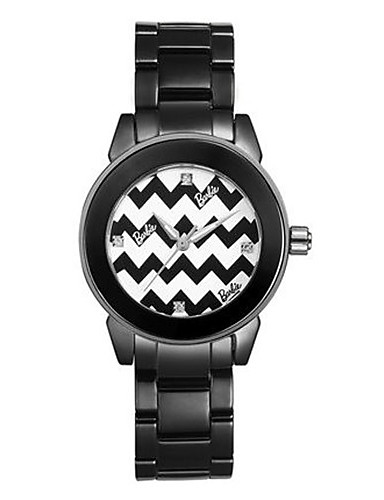 Women's Fashion Watch Quartz Ceramic Band Black White
