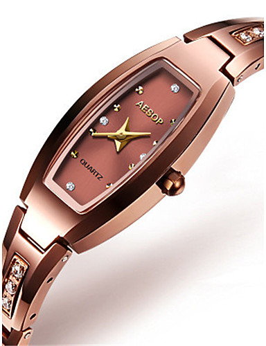 Women's Fashion Watch Quartz Water Resistant / Water Proof Alloy Band Green Gold Rose Gold