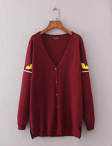 Women's Going out Daily Casual Long Cardigan