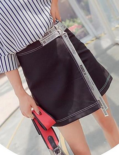 Women's Going out Above Knee Skirts A Line Color Block Summer