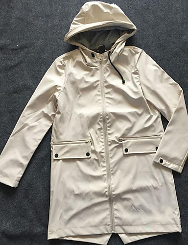 Women's Going out Daily Street chic Spring Trench Coat