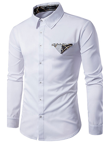 Men's Daily Chinoiserie Shirt,Check Classic Collar Long Sleeves Cotton
