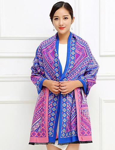 Women's Imitation Cashmere Rectangle Print Winter Fall/Autumn