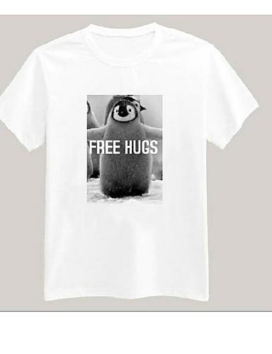 Bomull T-skjorte Dame - Bokstaver Enkel
