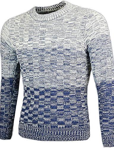 Men's Pullover - Color Gradient Round Neck