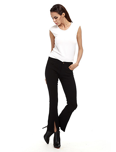 Women's High Waist strenchy Bootcut Jeans Shorts Pants,Casual Sexy Street chic Solid Cotton Spring Summer Fall