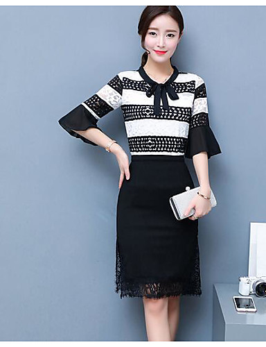 Women's Daily Casual Summer Blouse Skirt Suits,Solid Round Neck Short Sleeve Spandex