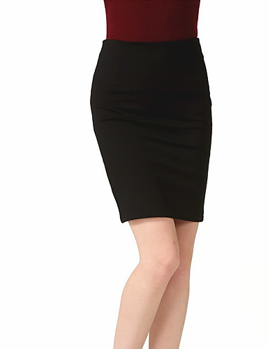 Women's Daily Going out Club Holiday Above Knee Skirts, Casual Sexy Bodycon Polyester Solid Spring Summer Fall