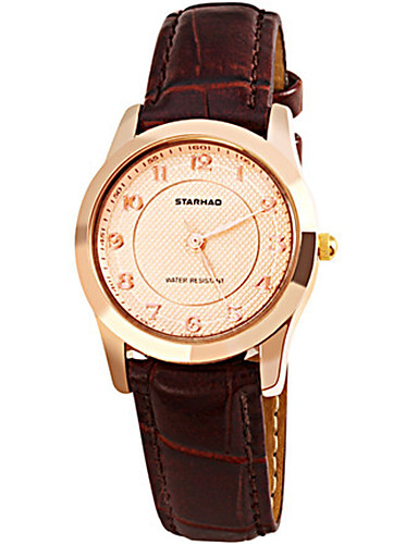 Women's Fashion Watch Quartz Water Resistant / Water Proof Leather Band Brown