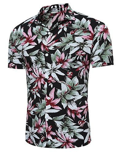 Men's Punk & Gothic Street chic Cotton Shirt - Floral