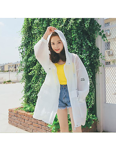 Women's Sport Daily Sports Matte Spring Summer Trench Coat,Solid Notch Lapel Long Sleeve Long Polyester