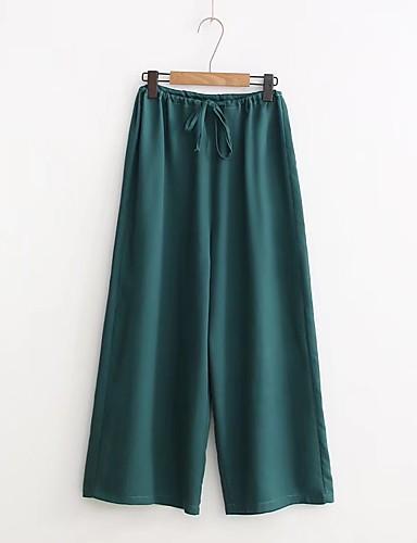 Women's Mid Rise Micro-elastic Chinos Pants,Street chic Wide Leg Tassel Solid
