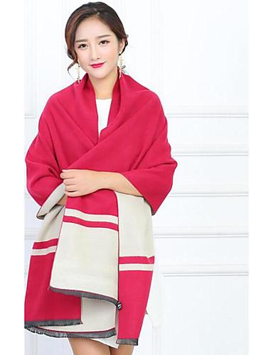 Women's Imitation Cashmere Rectangle Striped Winter Fall/Autumn