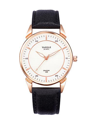 Men's Fashion Watch Wrist watch Casual Watch Quartz Genuine Leather Band Black Brown