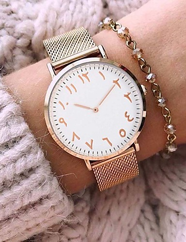 Couple's Wrist Watch Water Resistant / Water Proof Creative Alloy Band Analog Charm Casual Bangle Silver / Gold - Silver Rose Gold / Stainless Steel