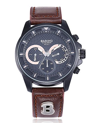 jewelora Homens Relógio de Pulso Relógio de Moda Relógio Esportivo Chinês Quartzo Impermeável Mostrador Grande Punk Resistente ao Choque