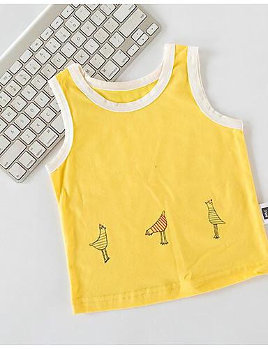 Baby Girls' Solid Shirt Ruffle White Yellow