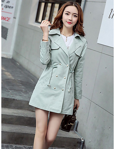 Women's Work Casual Spring Trench Coat