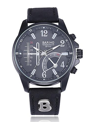 jewelora Homens Relógio de Pulso Relógio de Moda Relógio Esportivo Chinês Quartzo Calendário Impermeável Termómetro Mostrador Grande Punk