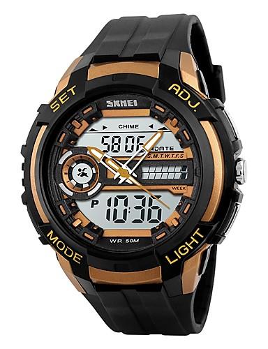 SKMEI Men's Digital Watch Fashion Watch Wrist watch Sport Watch Digital PU Band Black
