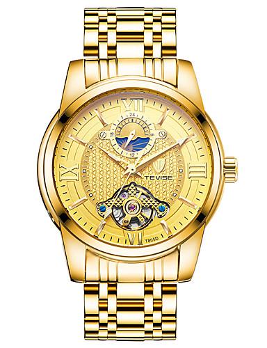 Homens relógio mecânico Relógio de Pulso Relógio de Moda Chinês Mecânico - de dar corda manualmente Venda imperdível Aço Inoxidável Banda