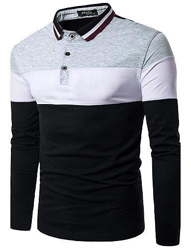 Herrn Einfarbig - Aktiv Wochenende Polo, Hemdkragen Schlank